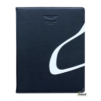Чехол Aston Martin для  iPad4/ New iPad/iPad2 Book blue/white