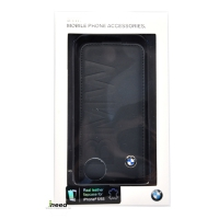 Чехол BMW для iPhone 5/5S Logo Signature Flip Blue BMFLP5LON