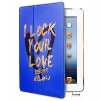Чехол Just Cavalli I Lock your Love Case для iPad 4/New iPad/iPad2,синий