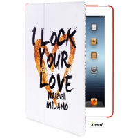 Чехол Just Cavalli I Lock your Love Case для iPad 4/New iPad/iPad2, белый
