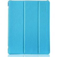 Чехол кожа HOCO Business Litchi для iPad 2/ iPad 3/ iPad 4 blue (синий)